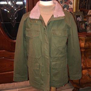 Sherpa-Trimmed Surplus Jacket NWT $168 retail